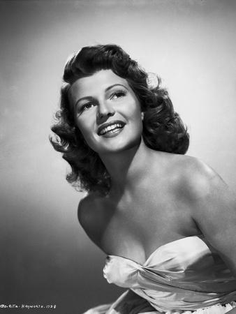 Rita Hayworth Looking Up and smiling Posed