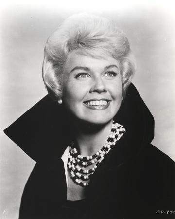 Doris Day Portrait in Classic with Coat