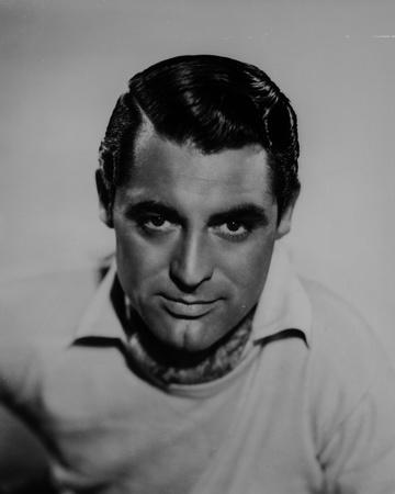 Cary Grant In Collared Shirt With Scarf