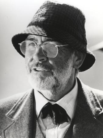 Sean Connery wearing Coat with Eye Glasses