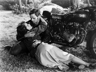 Scene from The Wild One with Marlon Brando