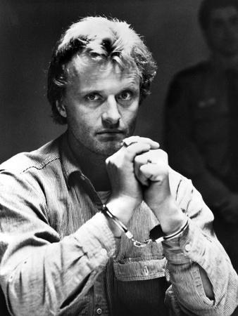Rutger Hauer in blazer Close Up Portrait