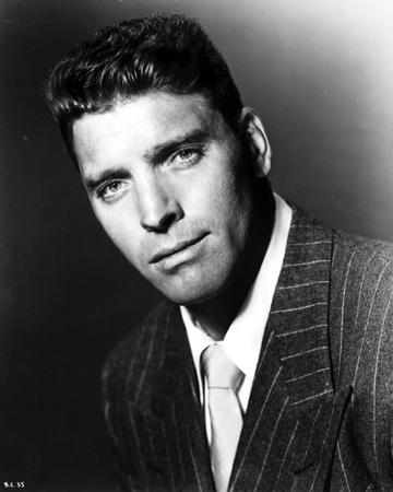 Burt Lancaster Posed in a Suit and Tie