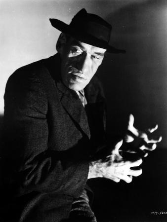 Rondo Hatton in Black With Hat Portrait