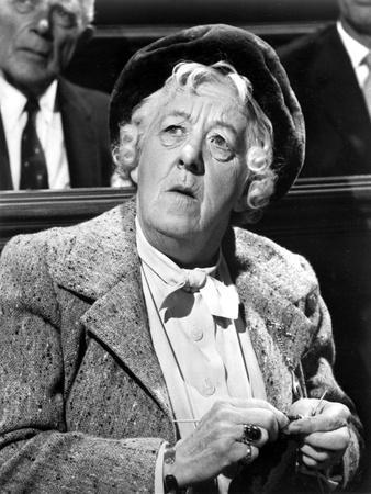 Margaret Rutherford Portrait in Classic