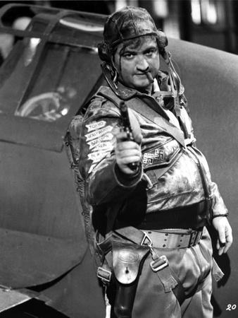 John Belushi in Army Outfit With Pistol