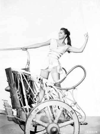 Esther Williams on a Horse-Drawn Vehicle