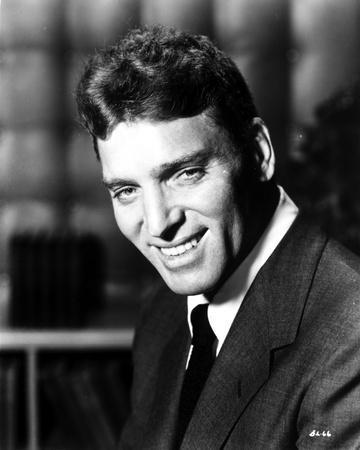 Burt Lancaster in Black Suit and smiling