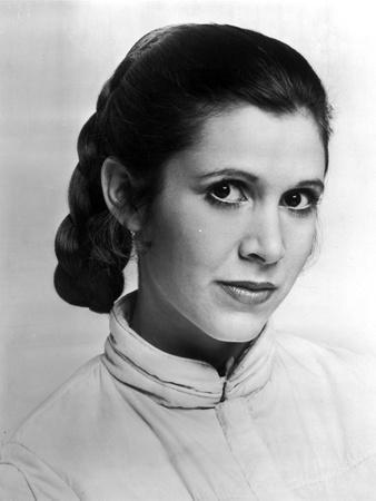 Carrie Fisher in Turtle Neck Blouse