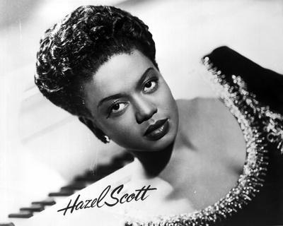 Hazel Scott wearing a Beaded Dress