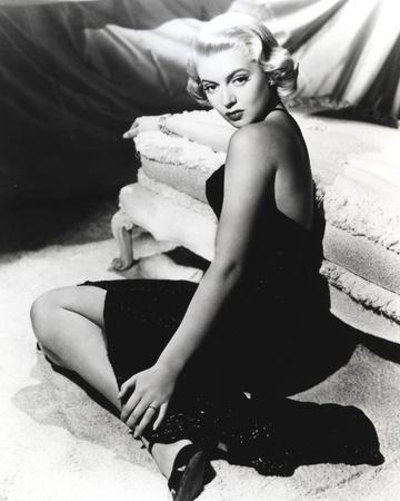 Lana Turner Portrait in Black Dress