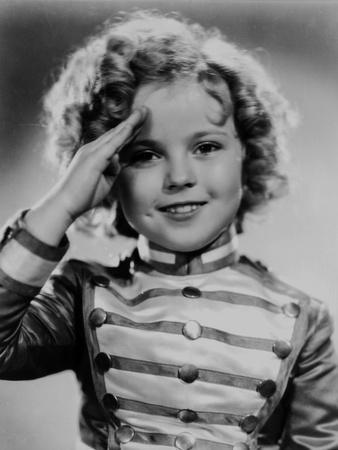 Shirley Temple Saluted in Black and White