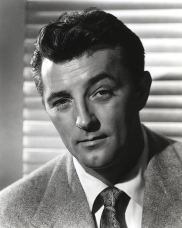 Robert Mitchum Posed in Coat and Tie