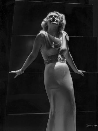 Bette Davis Posed in Black and White