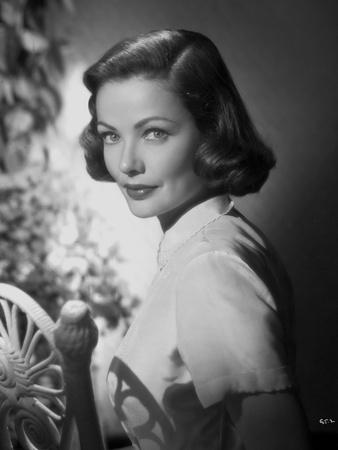 Gene Tierney Portrait in White Fence