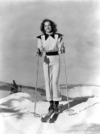 Ann Sheridan wearing a Skiing Outfit