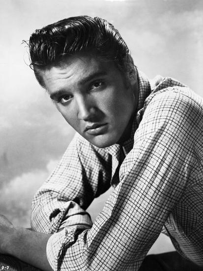 Elvis Presley Portrait in Plaid Polo