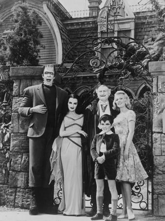 Munsters Posed in Black and White