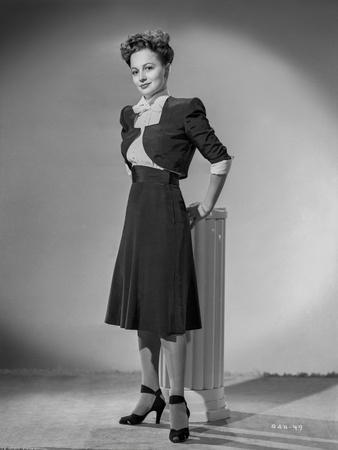 Olivia DeHavilland Posed in Dress