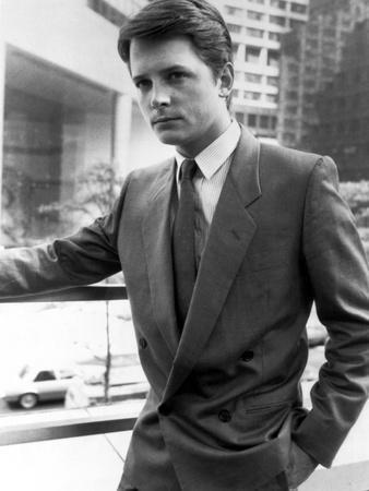 Michael J Fox standing in Tuxedo