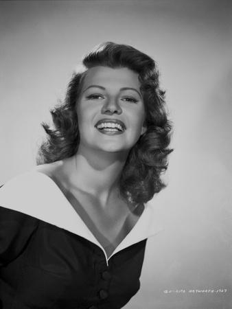 Rita Hayworth laughing in Portrait