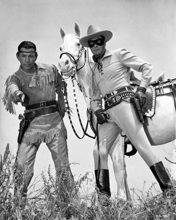 Lone Ranger Clayton Moore posed