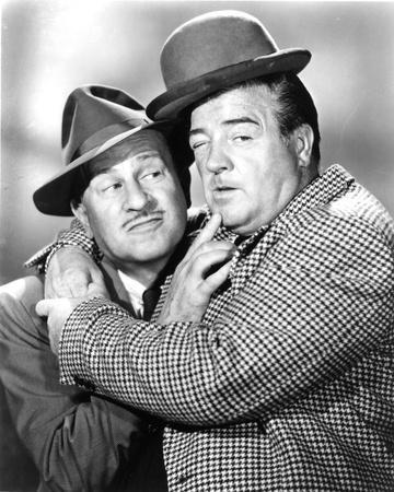 Abbott & Costello in Suit hugging