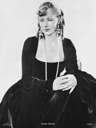 Greta Garbo wearing a Black Gown