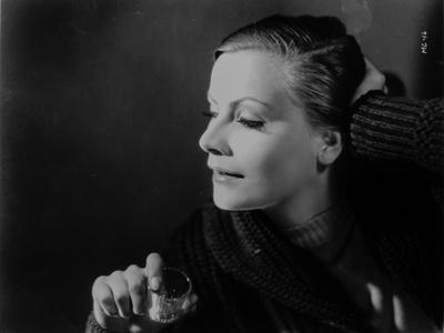 Greta Garbo Looking Down Pose