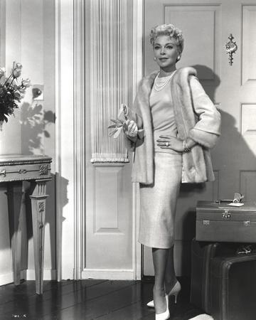 Lana Turner Smoking in Fur Dress