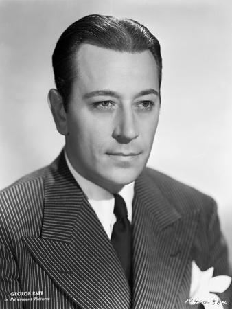 George Raft Posed in Suit and Tie