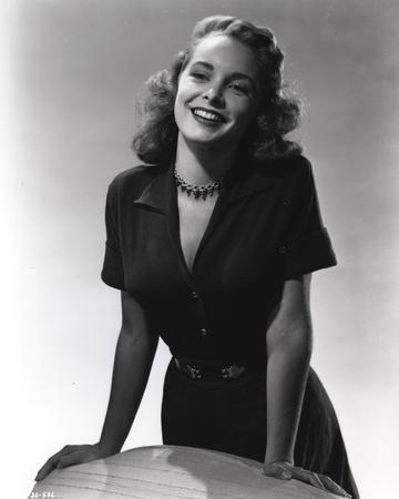 Janet Leigh posed in Black Dress