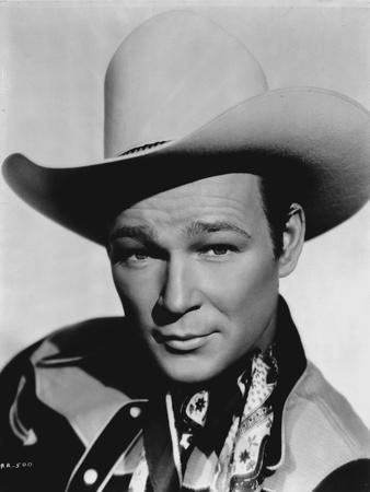 Roy Rogers posed in Cowboy Hat