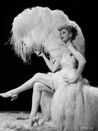 Lucille Ball Seated with Fan