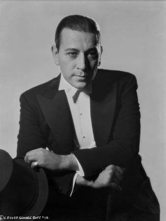 George Raft Posed in Black Suit
