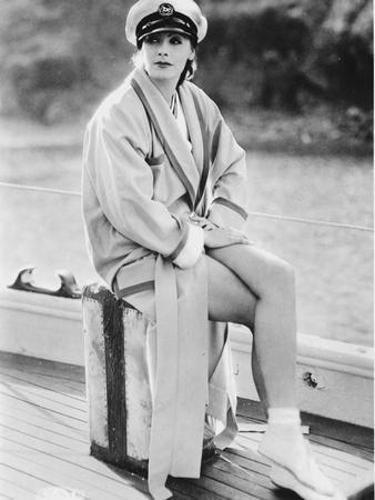 Greta Garbo wearing a Navy Hat