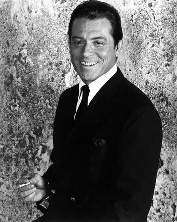 Paul Burke Posed in Black Suit