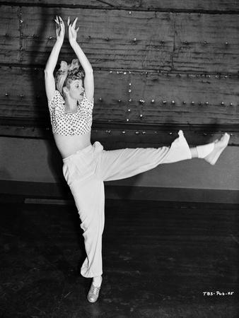 Lucille Ball Dancing in Ballet