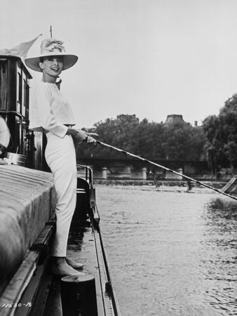 Audrey Hepburn Fishing