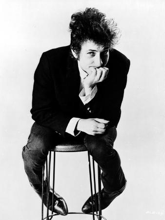 Bob Dylan Seated in Classic