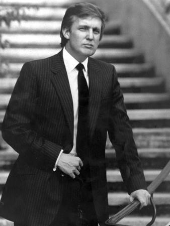 Donald Trump in Black Suit