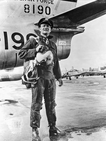John Wayne by Plane