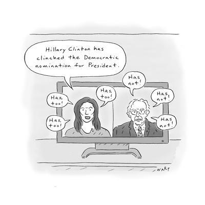 Hillary Clinches Nomination - Cartoon