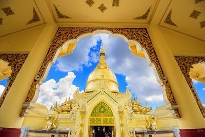 Yangon, Myanmar at Maha Wizaya Pagoda.
