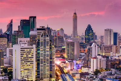 Bangkok, Thailand City Skyline.