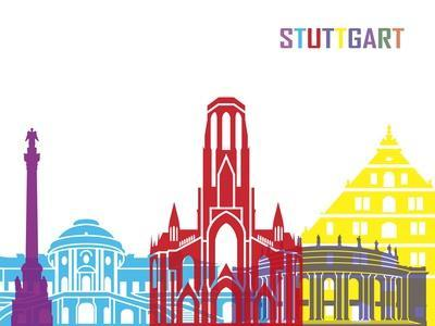 Stuttgart Skyline Pop