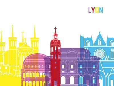 Lyon Skyline Pop