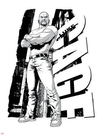 Marvel Knights - Luke Cage Art Design