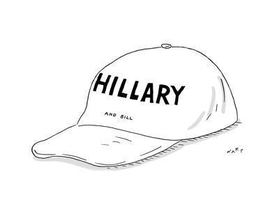 Hillary and Bill Hat - Cartoon