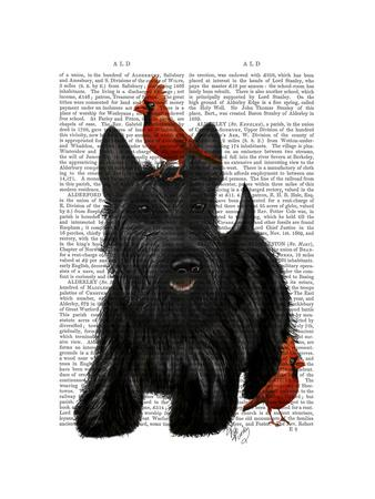 Scottish Terrier and Birds